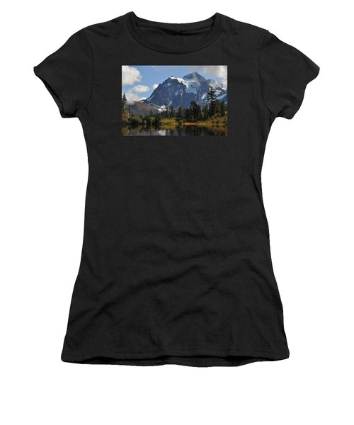 Picture Lake And Mount Shuksan Women's T-Shirt (Athletic Fit)