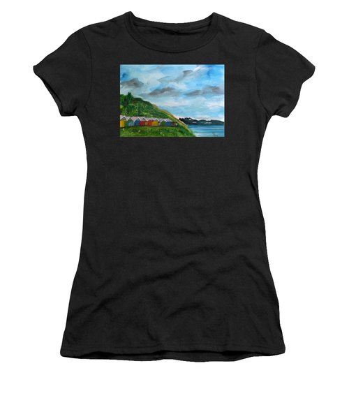 Picture Postcard View Of Scarborough Women's T-Shirt (Athletic Fit)