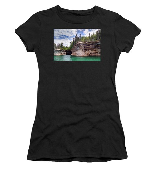 Pictured Rocks Women's T-Shirt (Athletic Fit)