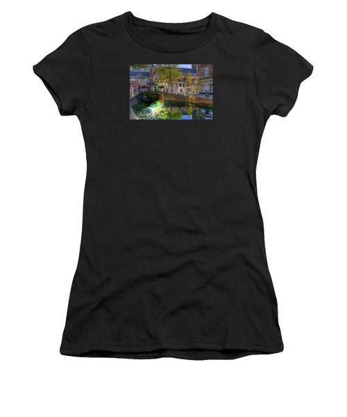 Women's T-Shirt (Junior Cut) featuring the photograph Picturesque Delft by Uri Baruch