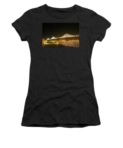 Pier 14 And Bay Bridge Lights Women's T-Shirt (Athletic Fit)