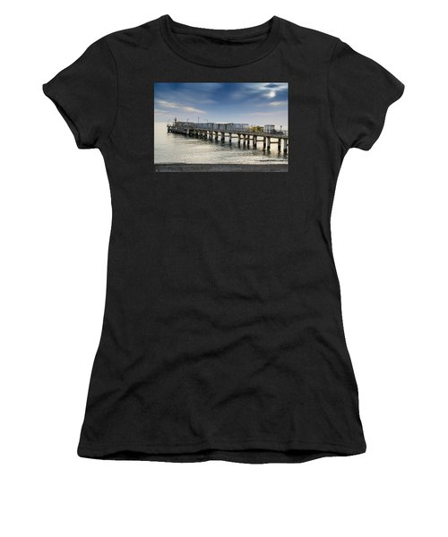Pier At Sunset Women's T-Shirt