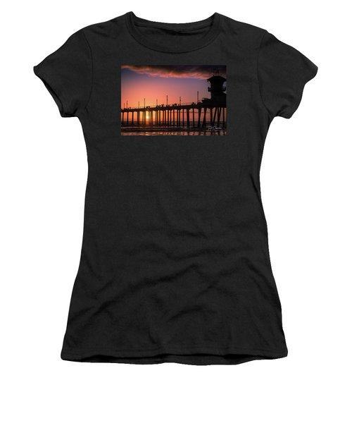 Pier At Sunset Women's T-Shirt
