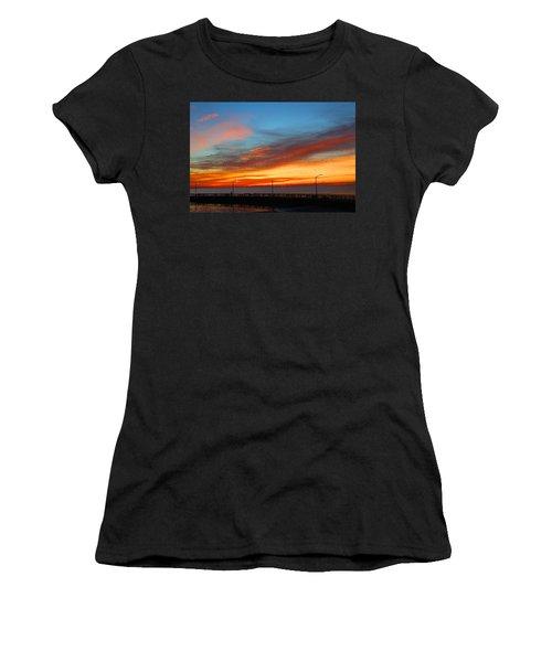 Pier Sunrise Women's T-Shirt