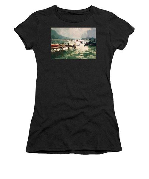 Pier Women's T-Shirt (Athletic Fit)