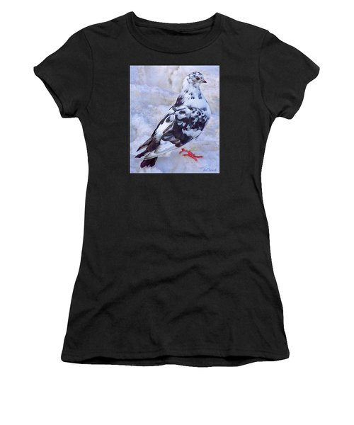 Pigeon On Ice  1 Women's T-Shirt (Athletic Fit)