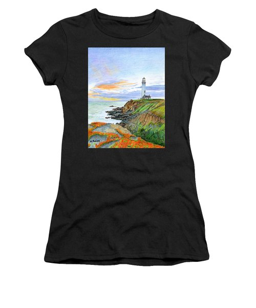 Pigeon Point Sunset Women's T-Shirt (Athletic Fit)
