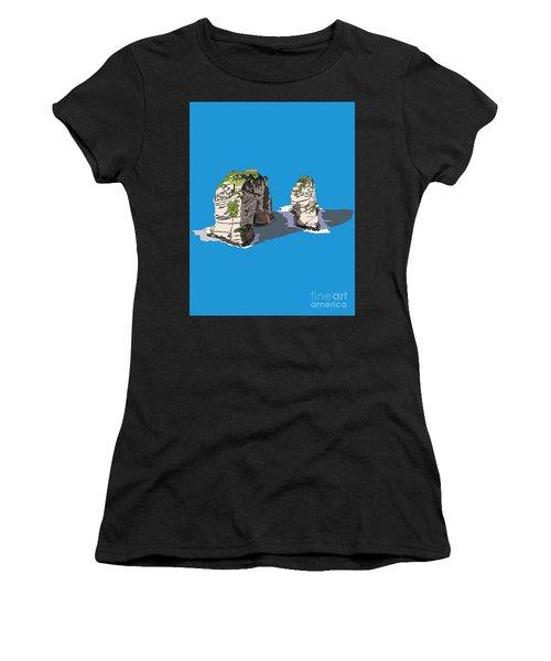 Pigeon Rocks, Beirut Women's T-Shirt