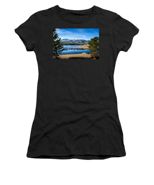 Pikes Peak Over Crystal Lake Women's T-Shirt