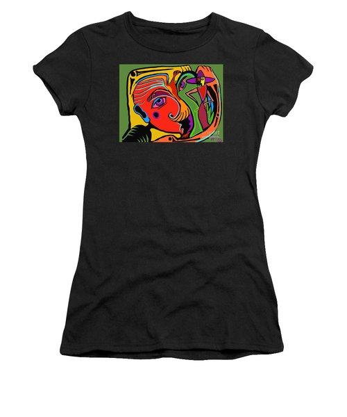 Pinching The Bird Women's T-Shirt (Athletic Fit)