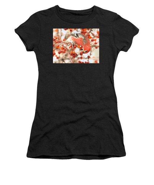 Pine Grosbeak Women's T-Shirt