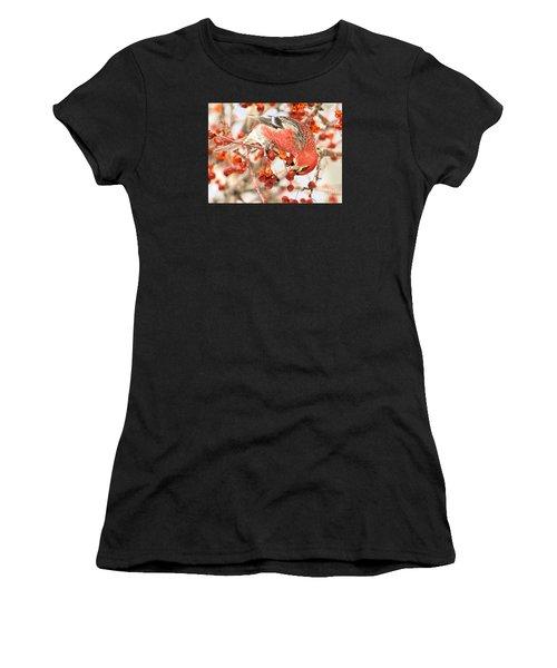 Pine Grosbeak Women's T-Shirt (Athletic Fit)
