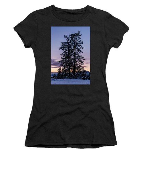 Pine Tree Silhouette    Women's T-Shirt