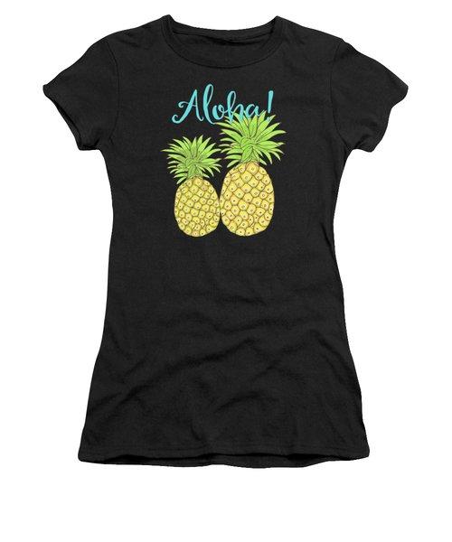 Pineapple Aloha Tropical Fruit Of Welcome Hawaii Women's T-Shirt