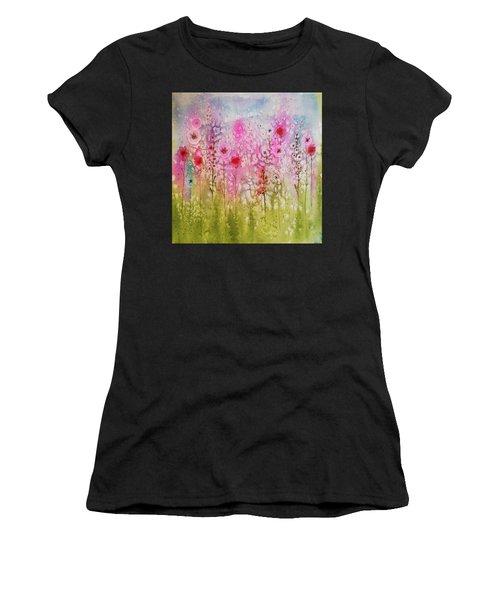 Pink Abstract Women's T-Shirt
