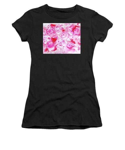 Pink Abstract Floral Women's T-Shirt