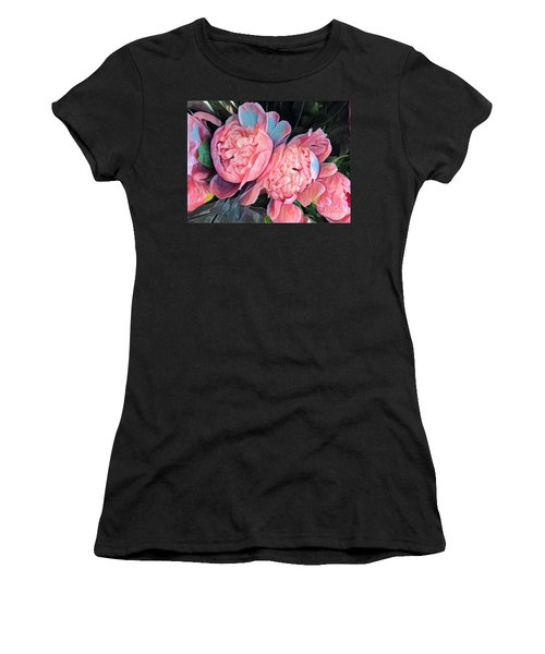 Pink And A Little Blue - Colors From My Garden Women's T-Shirt (Athletic Fit)