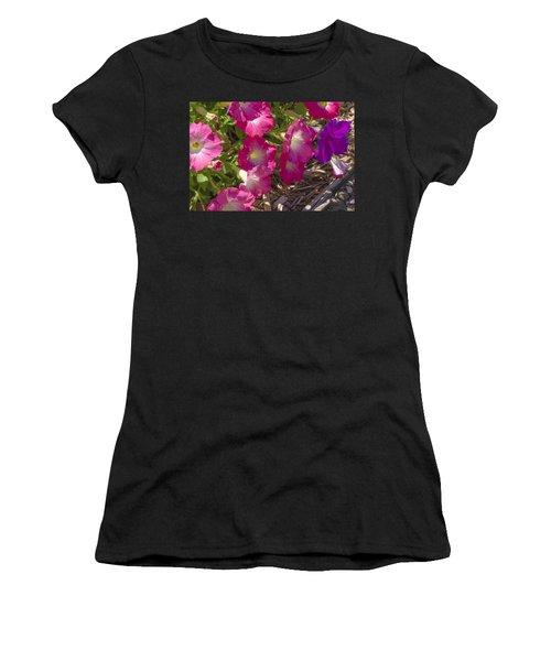 Pink And Purple Petunias Women's T-Shirt