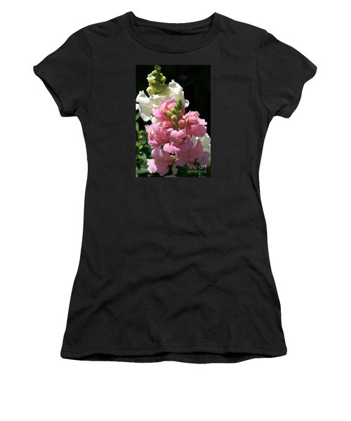 Women's T-Shirt (Junior Cut) featuring the photograph Sweet Peas by Eunice Miller