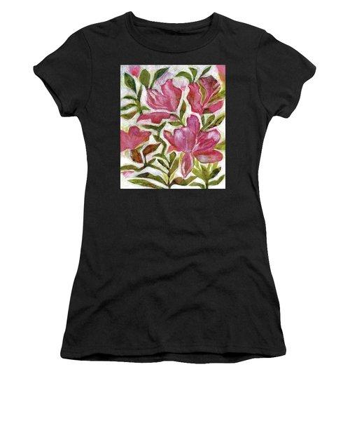 Pink Azaleas Women's T-Shirt (Athletic Fit)