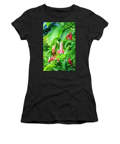 Pink Bell Flowers Women's T-Shirt