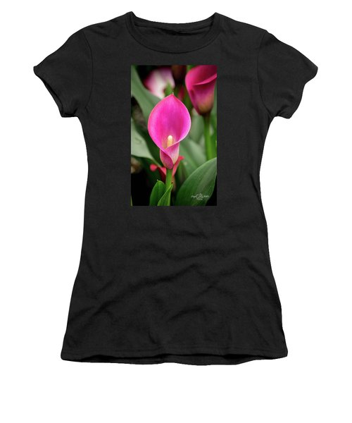 Pink Calla Women's T-Shirt (Athletic Fit)