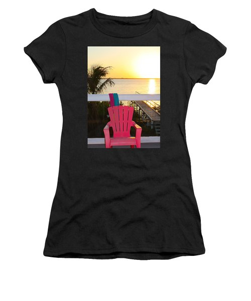 Pink Chair In The Keys Women's T-Shirt