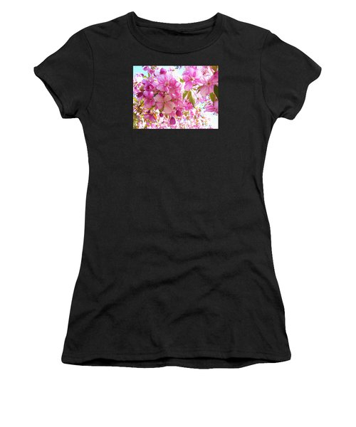 Pink Cherry Blossoms Women's T-Shirt (Athletic Fit)