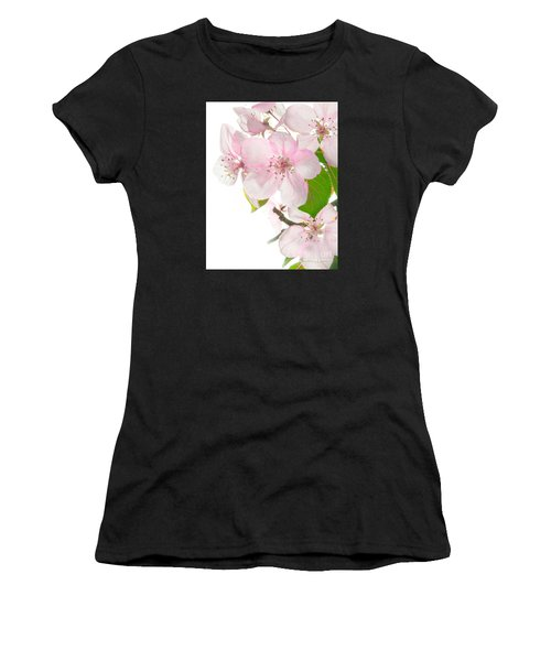 Pink Crabapple Blissoms Women's T-Shirt (Athletic Fit)