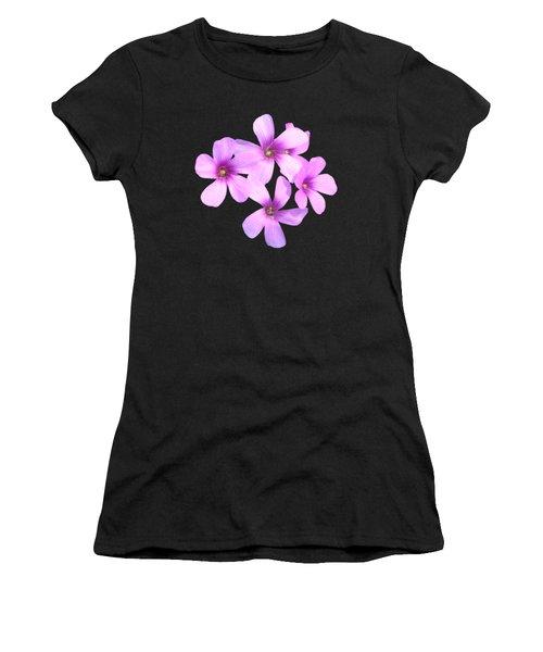 Pink Cutout Flowers Women's T-Shirt