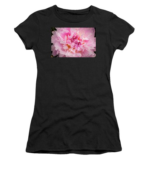 Pink Double Peony Women's T-Shirt (Athletic Fit)