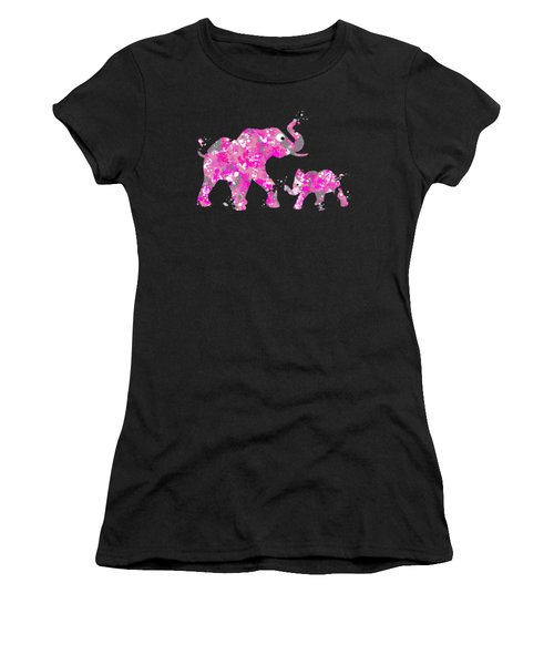 Pink Elephants Women's T-Shirt (Athletic Fit)