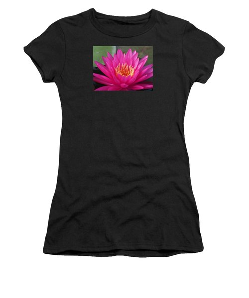 Pink Flame Waterlily Women's T-Shirt (Athletic Fit)