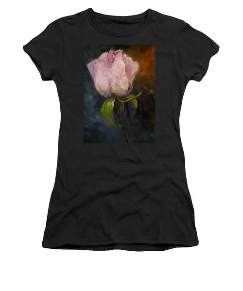 Pink Floral Bud Women's T-Shirt (Athletic Fit)