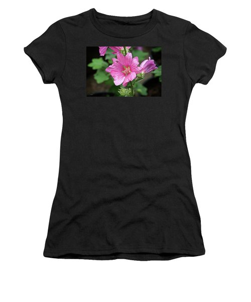 Pink Flower With Bug. Women's T-Shirt (Athletic Fit)