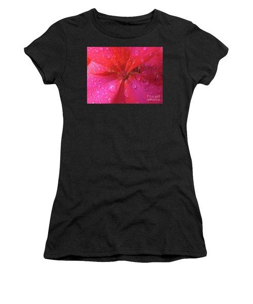 Pink Geranium Women's T-Shirt (Athletic Fit)