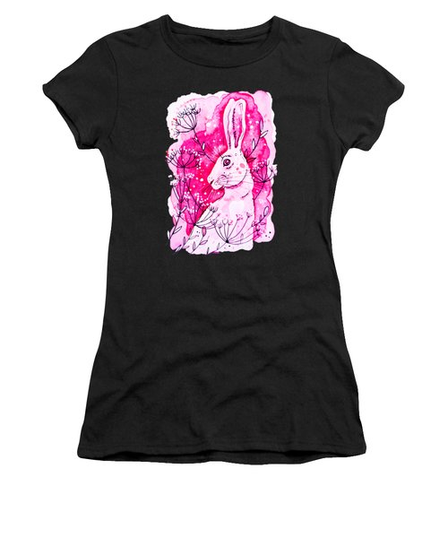Pink Hare Women's T-Shirt (Athletic Fit)