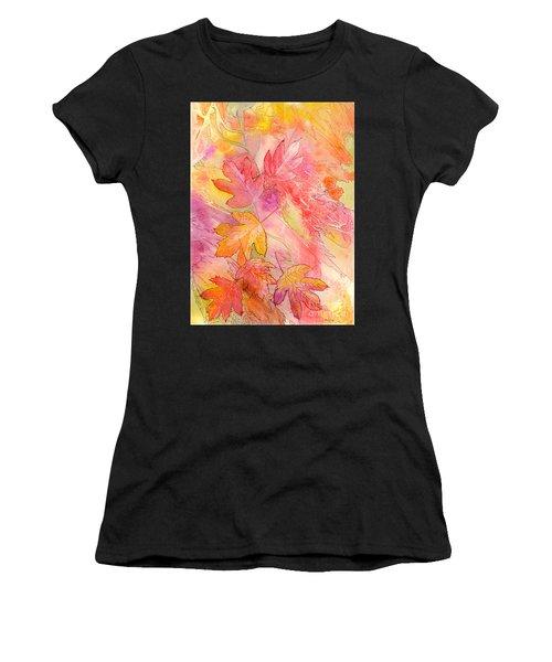 Pink Leaves Women's T-Shirt