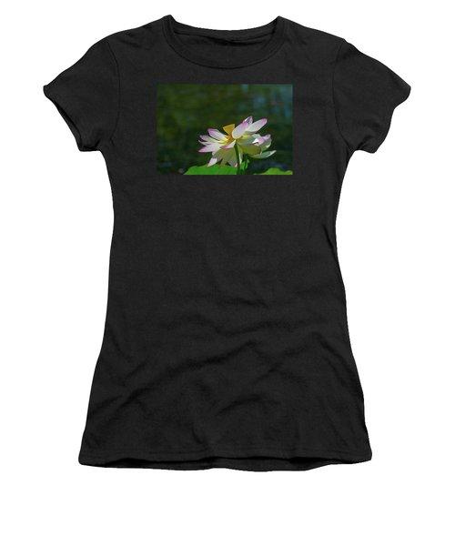 Pink Lotus Embracing The Sun Women's T-Shirt