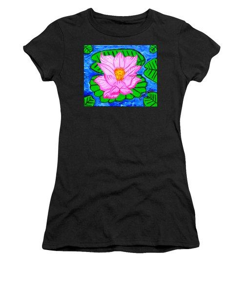 Pink Lotus Flower Women's T-Shirt