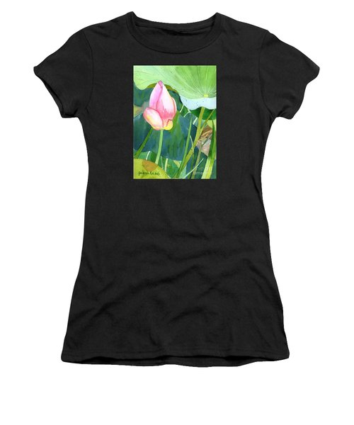Pink Lotus Women's T-Shirt (Athletic Fit)