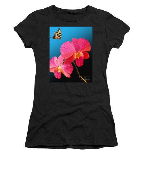 Pink Lux Butterfly Women's T-Shirt (Athletic Fit)