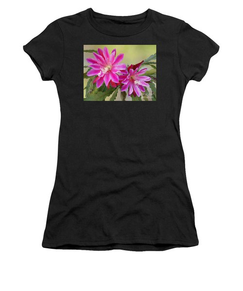 Pink Epiphyllum Lily Women's T-Shirt (Athletic Fit)