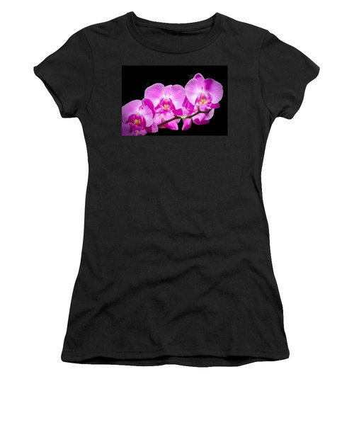 Pink Orchid Flora Women's T-Shirt (Athletic Fit)