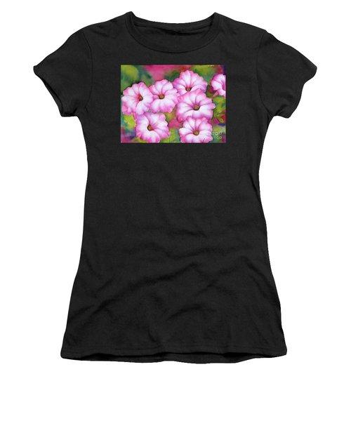 Pink Petunias Women's T-Shirt