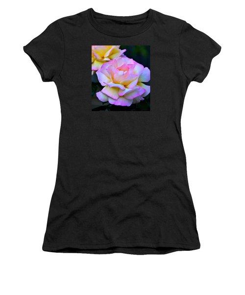 Pink Rose Women's T-Shirt (Junior Cut) by Josephine Buschman
