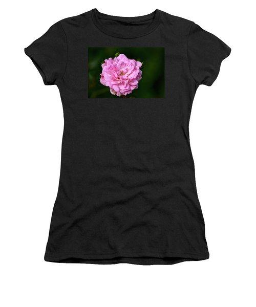 Pink Rose Petals Women's T-Shirt (Athletic Fit)