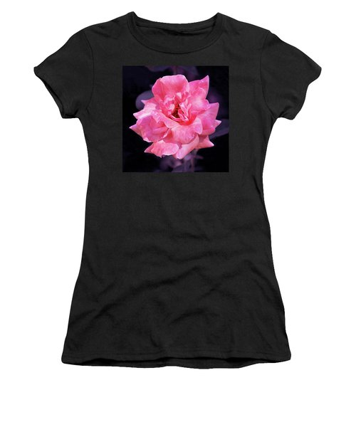 Pink Rose With Violet Women's T-Shirt