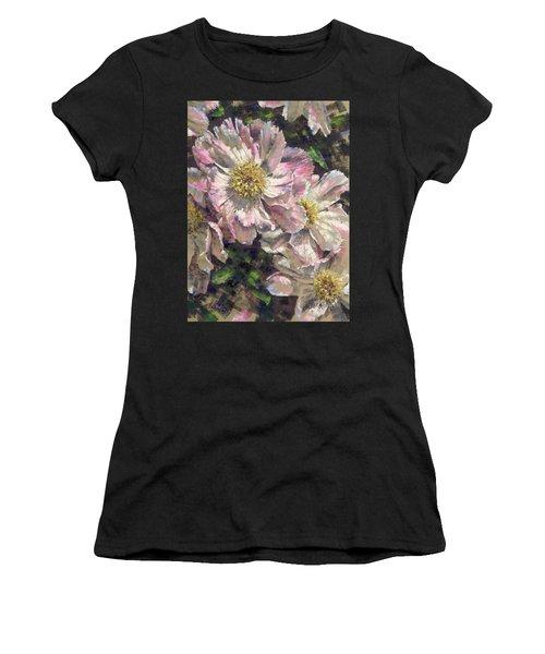 Pink Single Peonies Women's T-Shirt
