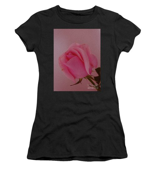Pink Single Rose Women's T-Shirt